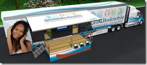 Digital Bookmobile para promocionar Ebooks, Audiobooks, Música, Videos de editores USA