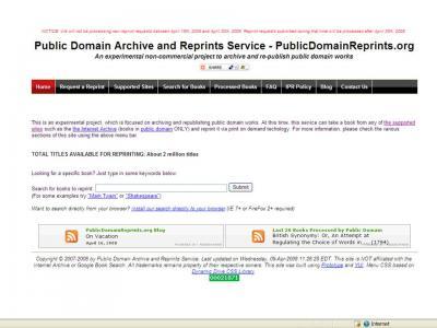 Imprimiendo obras de dominio público