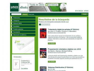 La UNED estrena servicio de Libros Electrónicos