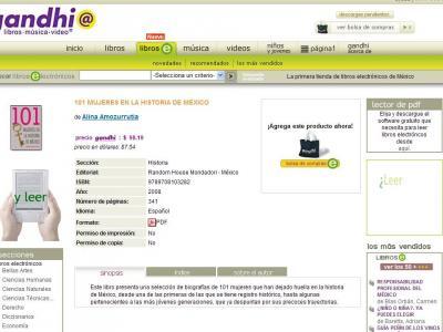 Lanzamiento de la librería de ebooks de Gandhi en FIL 2008