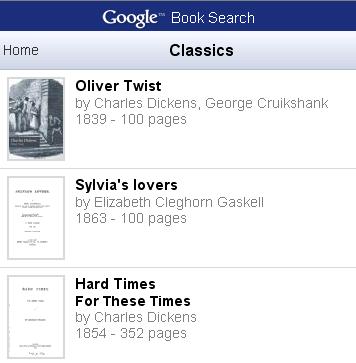 Google Books aparece en los móviles